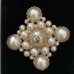Authentic Chanel Pearl Brooch